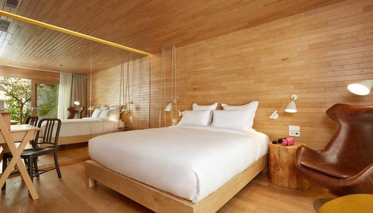 Le lit de la cabane du 9 Hotel Montparnasse