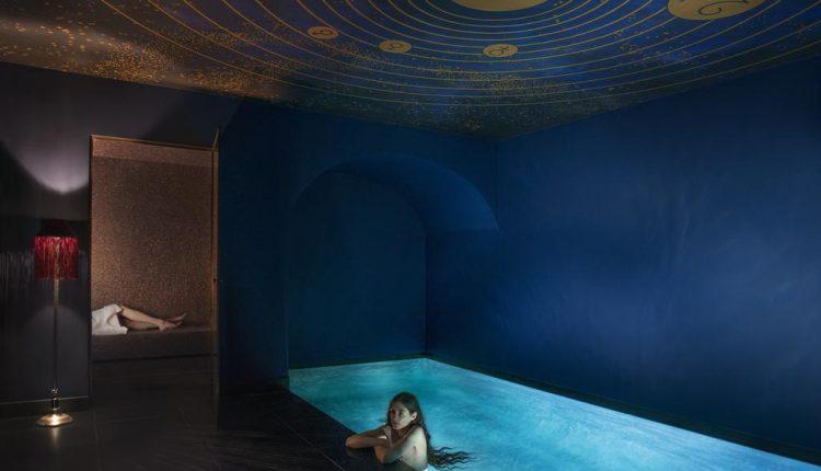 spa privé avec piscine de l'hôtel insolite Souquet