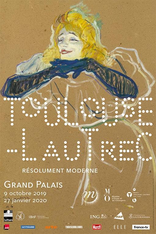 Exposition Toulouse-Lautrec - Grand Palais : billets coupe